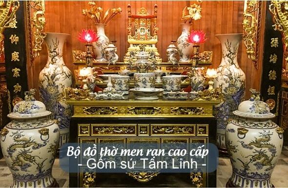 đồ thờ cúng men rạn Bát Tràng