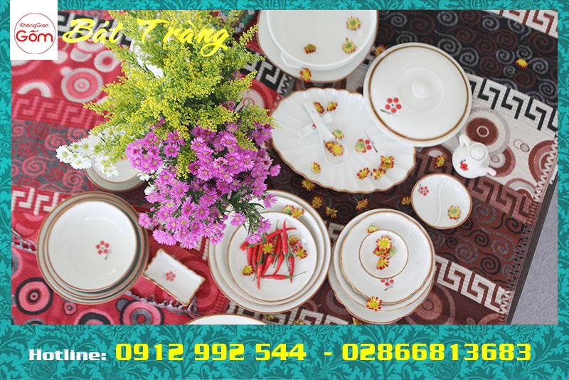 Địa chỉ cung cấp bát đĩa đẹp giá rẻ Bát Tràng tại Tân Phú, TPHCM