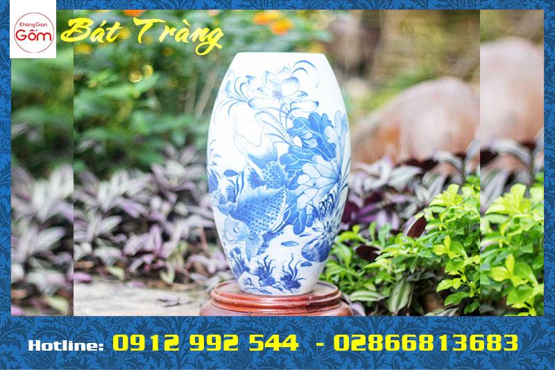 Bình hoa, lọ hoa đẹp tại Tân Phú, TPHCM - Không Gian Gốm Bát Tràng