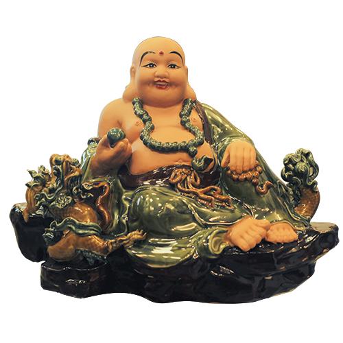 Tượng Phật di lặc bằng gốm sứ Bát Tràng tại Không Gian Gốm