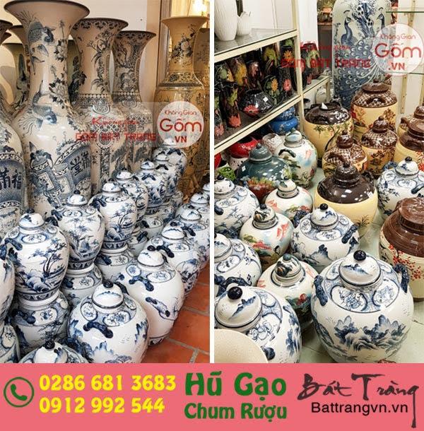 hũ đựng gạo bằng gốm sứ tại tphcm cửa hàng Không Gian Gốm