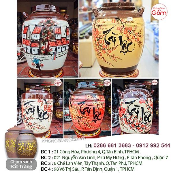 Tài Lộc tượng trưng cho sự may mắn cùng họa tiết làng quê mang lại cho hũ đựng gạo gốm sứ tại quận Tân Phú vừa sang trọng lại vừa mang lại nét đẹp truyền thống của người Việt