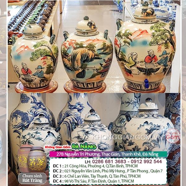 Bình gốm vò rượu sành sứ Bát Tràng Đà Nẵng │Không Gian Gốm