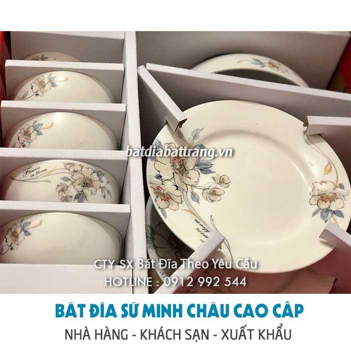 Cung cấp bộ chén sứ Minh Châu giá gốc không qua trung gian