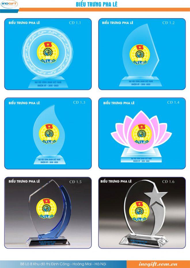Biểu trưng pha lê, kỷ niệm chương pha lê - Quà tặng đại hội đảng