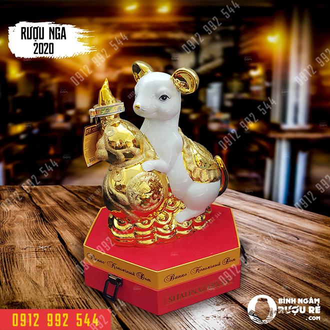 Tượng chuột sứ mạ vàng công nghiệp 24k GIÁ: 1.800.000 Đ
