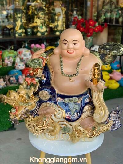 Tượng Phật di lặc cỡi cá chép hóa rồng