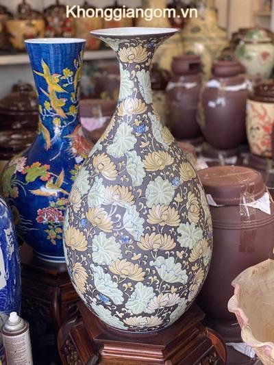 Bình gốm tỳ bà Lưu Ly