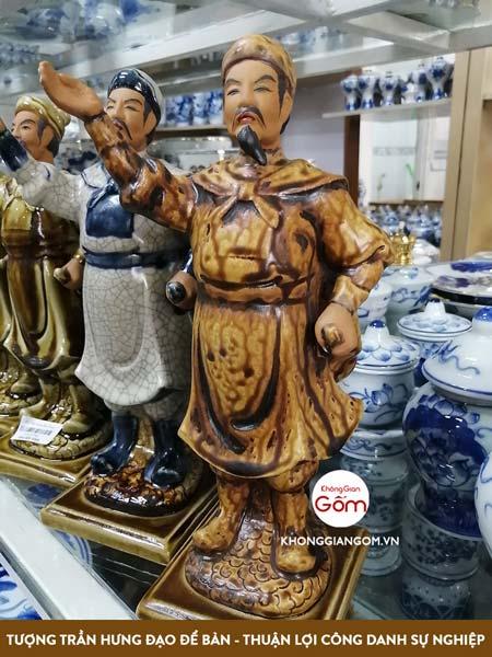 tượng trần hưng đạo gốm sứ, tượng trần quốc tuấn