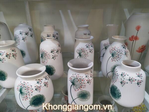 Set bình hoa trang trí độc đáo