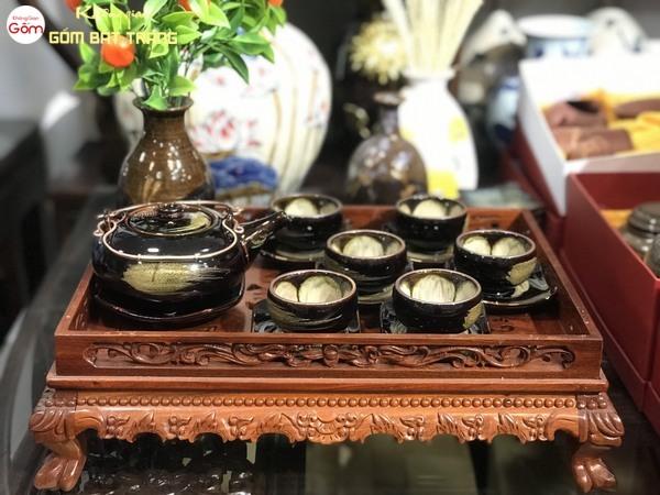 Bộ ấm trà cao cấp-Đồ gốm trang trí phòng khách đẹp