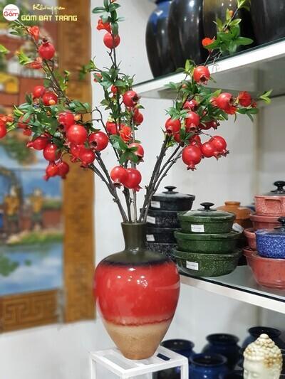 Lọ hoa gốm sứ-đồ gốm trang trí phòng khách đẹp